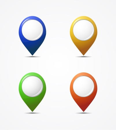 Vector map pointer icons Vector