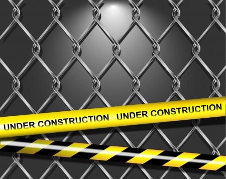 industrial danger: Vector p�gina en construcci�n Vectores