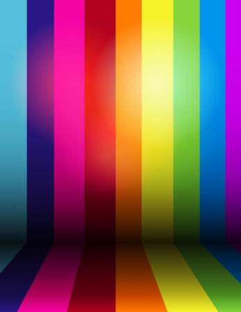 Vector shiny rainbow stripe background Ilustrace