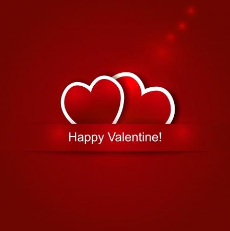 Vector paper heart Valentine background