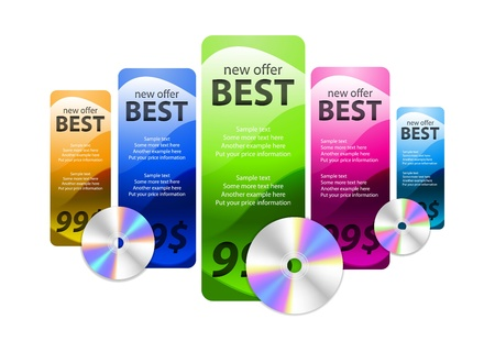 promotion web box with cd disc Vector