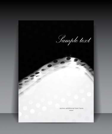 digital art: Vector dotted white wave background