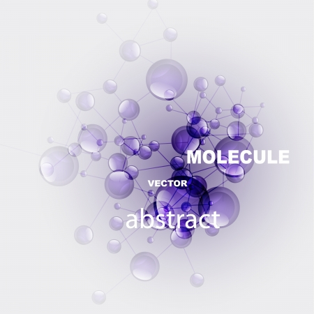 Vector glossy purple molecule background Vector