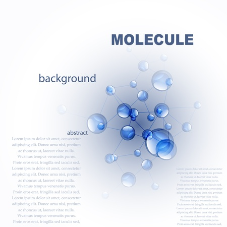 Vector glossy blue molecule background Illustration
