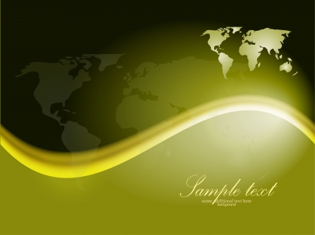 Vector Earth dark green wave background Vector