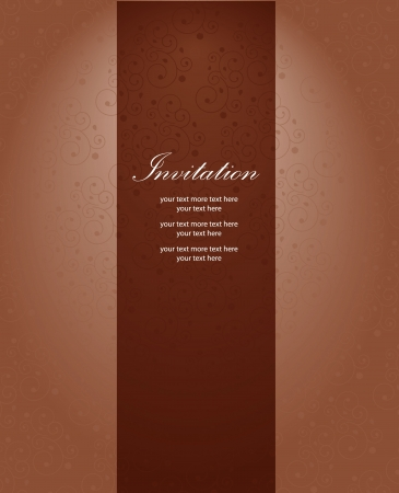 Vector luxury background: wallpaper and curve Stock Vector - 14931977