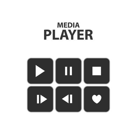 divertirsi: Pulsanti Vector: play, stop, rewind, indietro, avanti, mettere in pausa