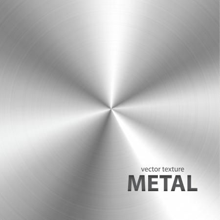 cromo: Vector fondo de metal cepillado textura