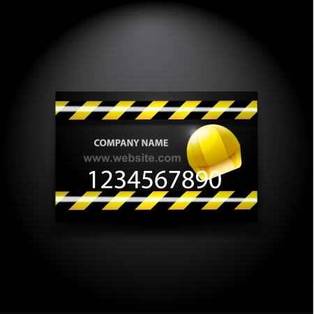 road work: Vector construction and web developement business card Illustration