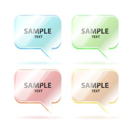 Vector glass speech bubbles isolated Stock Vector - 14930252