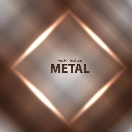 polished floor: Vector light brushed metal texture Illustration