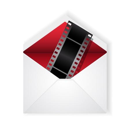 Vector film strip in open envelope Stock Vector - 14930188