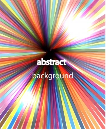 Vector rainbow rays shiny background