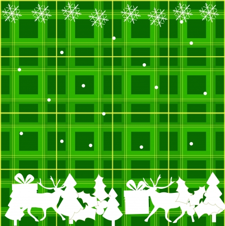 Vector green and white Chritmas pattern Vector