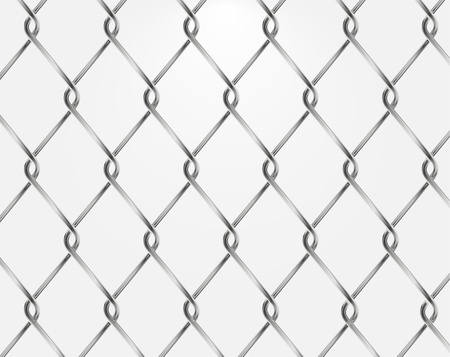 Vector chain fence isolated on white Vector