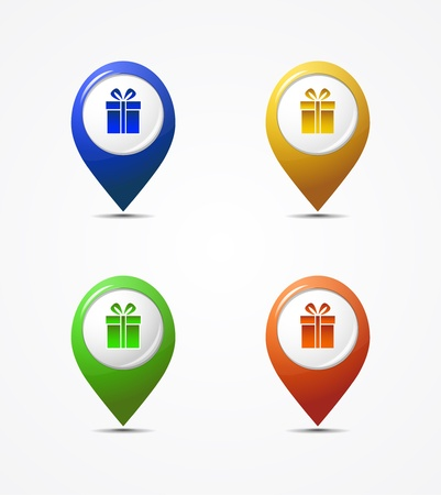 Vector set of map pointer icons Vector