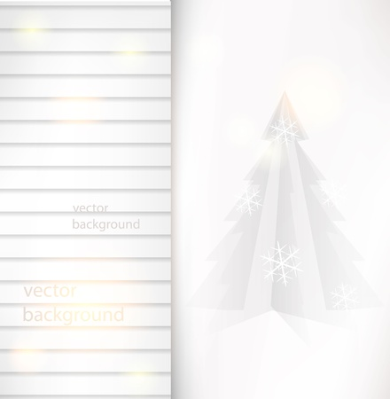 Vector Chrismtas paper light card Vector