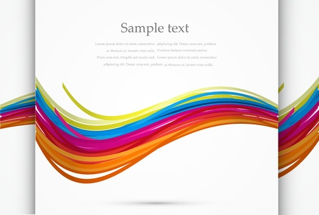 Vector rainbow wave abstract background