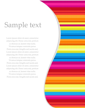 rainbow stripe: Vector shiny rainbow stripe background Illustration