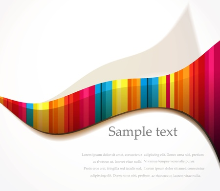 copy: Vector rainbow wave background paper style