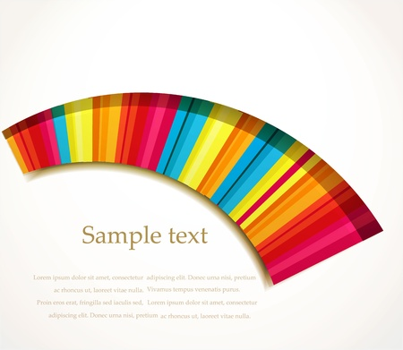 Vector rainbow color wave background