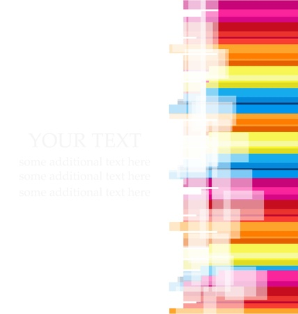 Vector color rainbow line background