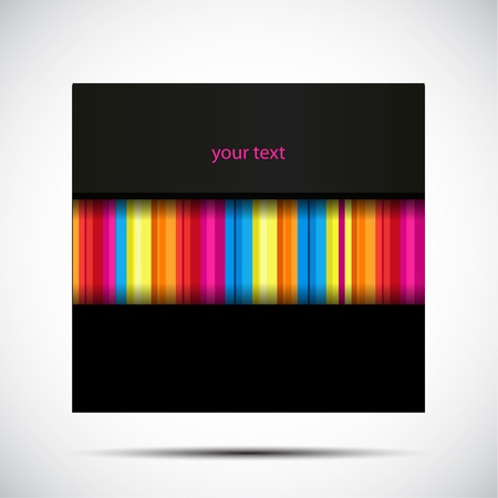 Vector black texture background with rainbow stripe Stock Vector - 14930166