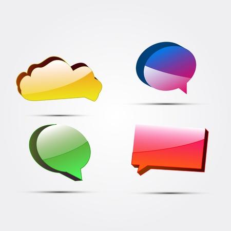 Vector glossy color speech bubbles Stock Vector - 14930163