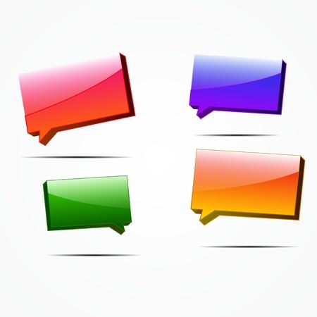 Vector glossy color speech bubbles Stock Vector - 14930075