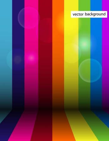 Vector shiny rainbow stripe background Ilustração