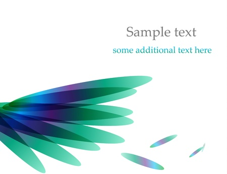 Vector color feather / wing background