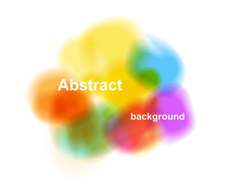 Abstract color paint cloud vector