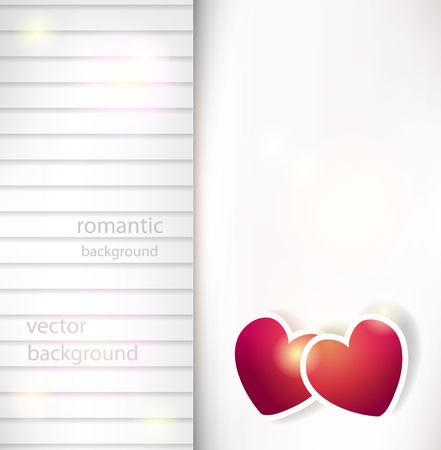 Vector paper heart Valentine background Stock Vector - 14930448