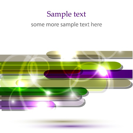 Vector shiny green and purple background Illustration