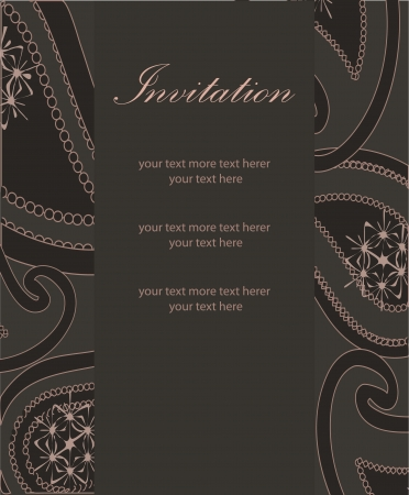 Vector paisley background (invitation card design) Vector