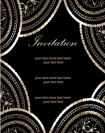 Vector paisley background (invitation card design)