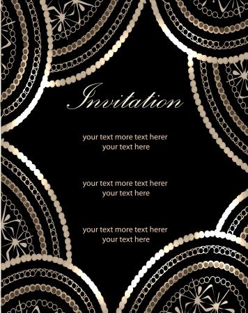 Vector paisley background (invitation card design)