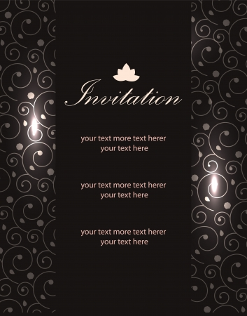 card design: Vector paisley background (invitation card design)