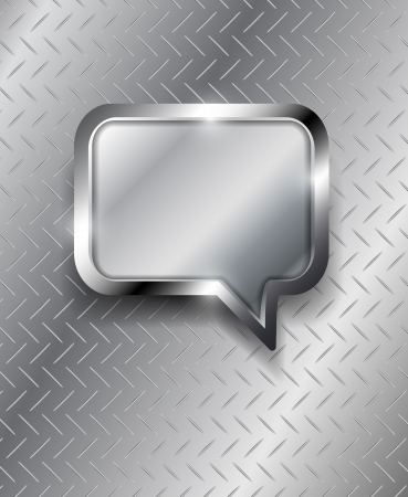 Glossy metal vector speech bubble Vector