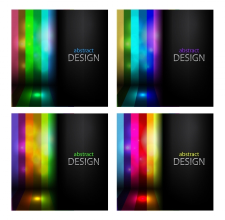 Vector set of glowing striped backgrounds Stock Vector - 14931665