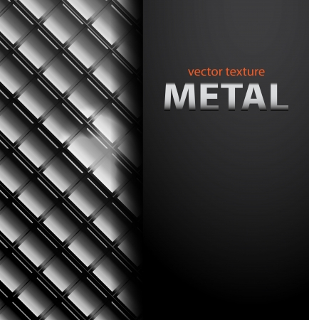 wall decor: Vector metal mosaic business background Illustration
