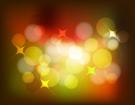 Vector bokeh background in red and yellow Stock Vector - 14931469
