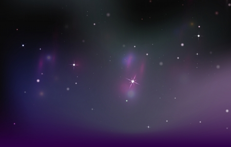 polaris: Vector Northern lights sky background