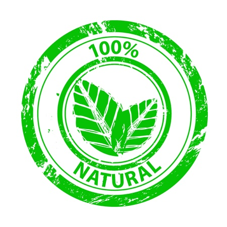 Vector 100% green grunge stamp Illustration
