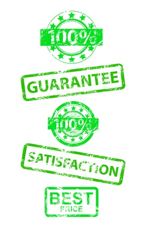 Satisfaction guaranteed grunge vector rubber stamp Stock Vector - 15045913