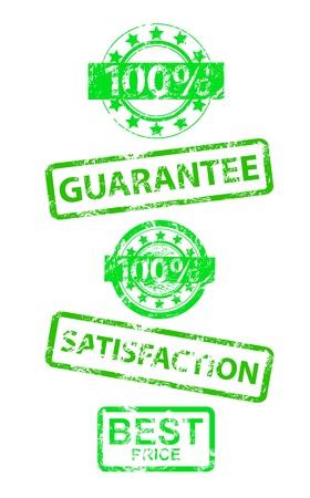 Satisfaction guaranteed grunge vector rubber stamp Stock Vector - 15045913