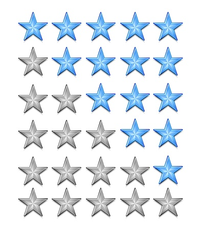 five star: Shiiny vector stars for rating