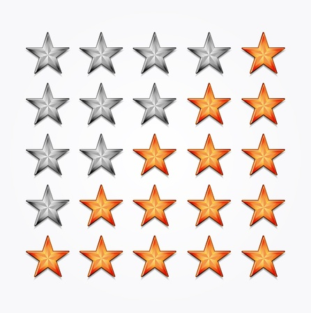 Shiiny vector stars for rating Stock Vector - 15045901
