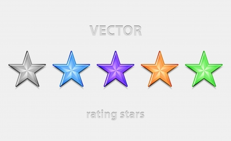 review site: Shiiny vector stars for rating