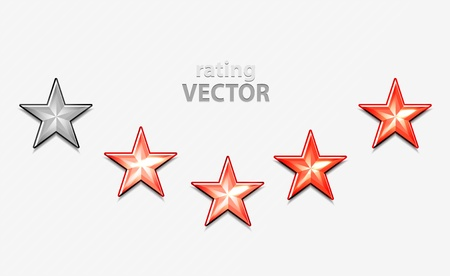Shiiny vector stars for rating Vector